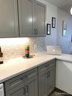 Add Gray Cabinets In Your Kitchen With Colonial Ii Maple Willow Gray