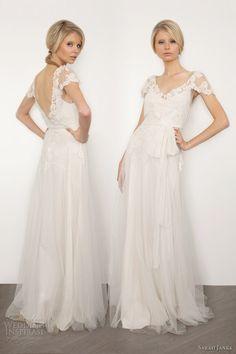 sarah janks brigitte wedding dress lace short sleeves
