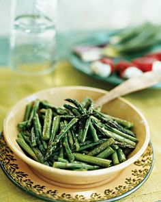 Sauteeing asparagus keeps the spears bright green and crisp.