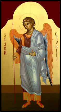 The Holy Archangel Gabriel. Religious Icons, Religious Art, San Gabriel, Chris Garver, Orthodox Icons, Choir, Ikon, Classic Style, Book Art