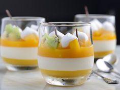 mangue, crème, gélatine, citron, sucre, sucre vanillé