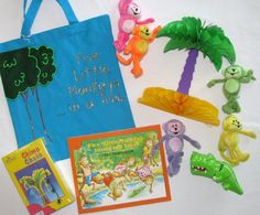 Five Little Monkeys literacy bag