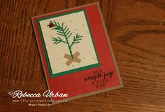 Charlie Brown Christmas tree card - 101 Projects with Rebecca.  Stampin Up holiday.  Stampin' Up Christmas cards.  Stampin Up Pretty Pines