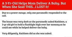 A 3-Year-Old Helps Mom Deliver A Baby. But When She Said THIS...I LOST It!