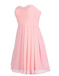 Dressystar Bridesmaid Dress Short Evening Dress for Girls Coral Size 22W