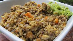 Brown Rice and Green Lentil Pilaf