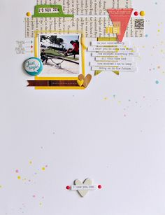 #Papercraft #Scrapbook #Layout. Just Sayin' by Sasha at @studio_calico