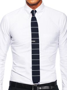 example on how to wear a tie bar with a knit tie. thanks park & bond