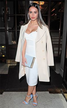 Georgia May Foote at London Fashion Week on February 20, 2015, wearing a Lavish Alice Crossover Body-conscious Midi Dress http://api.shopstyle.com/action/apiVisitRetailer?id=465690383&pid=uid7729-3100527-84. #style #celebstyle