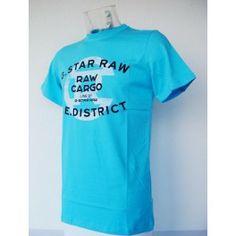 Camiseta Gstar Raw Turquesa