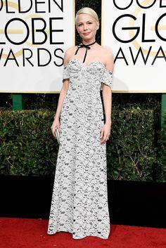 Michelle Williams in Louis Vuitton, 2017 Golden Globes