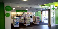 Love the talk to the pharmacist sign!  Interior Signage 01
