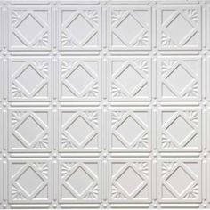 Easy to install decorative faux tin ceiling tiles! Glue up over most surfaces, including popcorn ceilings! Walls, Ceilings, +more Faux Tin Ceiling Tiles, Ceiling Trim, Ceiling Panels, Tin Walls, Popcorn Ceiling, Tile Patterns, Bedroom Decor, Wine Cellars, Small Kitchens