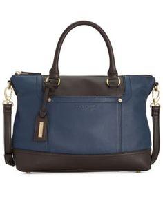 Tignanello Smooth Operator Leather Convertible Satchel - Blue
