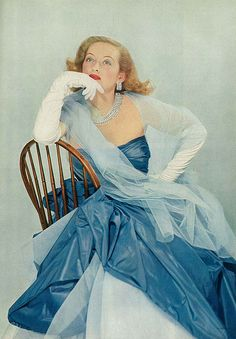 Bette Davis, featured in May Vogue 1951 | Flickr - Photo Sharing!