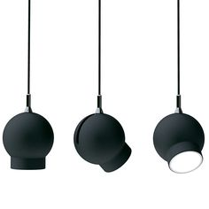 The lesson of the little black dress is that the surest way to go chic is to go black. Here are ten options for when you want your lighting to go noir.