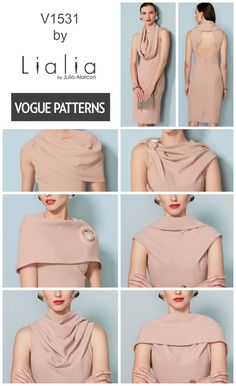 a2c60aa72099 This new dress pattern from Lialia for Vogue Patterns features a versatile  cowl neck and a
