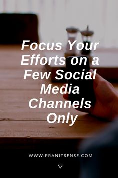 Focus Your Efforts on a Few Social Media Channels Only Social Media Branding, Personal Branding, Social Media Marketing, Learn Wordpress, Seo Techniques, Email Marketing Campaign, Learn Faster, Skills To Learn, Social Media Channels