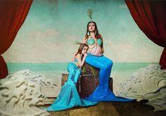 Mermaid Pregnancy shots Tina Dolin Photography 1920s Circus sideshow mom and daughter Roxy Jackson Makeup