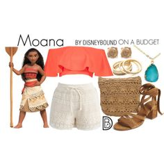 Disney Bound: Moana from Disney's Moana (On A Budget Outfit) Disney Bound Outfits Casual, Moana Outfits, Cute Disney Outfits, Disney Princess Outfits, Disney Themed Outfits, Disney Dresses, Cute Outfits, Modern Disney Outfits, Funky Outfits