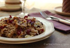 Risotto al radicchio, gorgonzola e noci