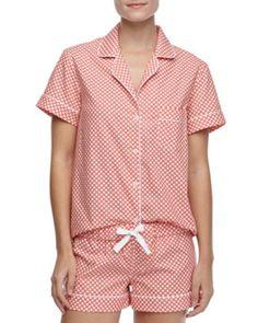 Three J New York Eloise cotton short pajamas, $63 (on sale), available at Neiman Marcus