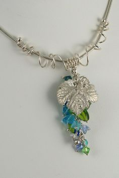 A beautifully hand-crafted necklace by one of my favorite jewelry designers in Napa Valley. Lori's Vineyard - Silver Merlot Grape Leaf Necklace via Hosman Leaf Necklace, Pendant Necklace, Beaded Jewelry, Unique Jewelry, Leaf Art, Napa Valley, Grape Vines, Jewelery, Beading