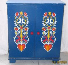 Doll's Wooden Armoire