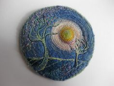 Yearning For Spring by Michala Gyetvai (Kayla coo) #embroidery #stitching #textile_arts
