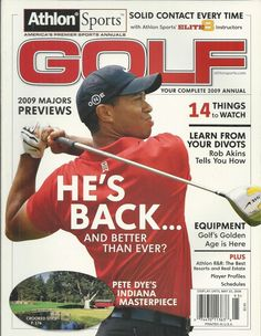Athon Sports Golf magazine Tiger Woods Majors Pete Dye Indiana course Divots