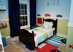 Connors First Big Boy Room, A truck themed room for my little man :), view from the door , Boys Rooms Design