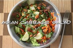 Five Easy, Delectable Salads + 4 Lush Raw Vegan Salad Dressings - Asian Cabbage Salad