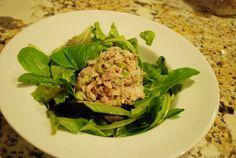 Tuna salad made with Greek yogurt - 3 WW points