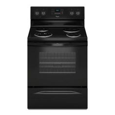 Whirlpool 30 in. 4.8 cu. ft. Electric Range with Self-Cleaning Oven in Black - WFC310S0EB - The Home Depot