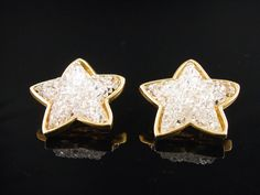 Edouard Rambaud Rock Candy Crystal Star Earrings by VintageGemz, $50.00