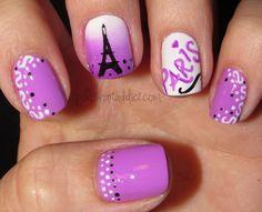 Polish Art Addict: Purple Paris #nail #nails #nailart