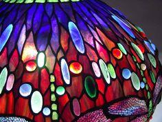 """22"""" Scarab Blue Dragonfly Tiffany lamp #1507"""