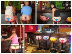 Bikini bottom stools
