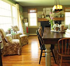 The Painted Home: { Farmhouse Dining Room }
