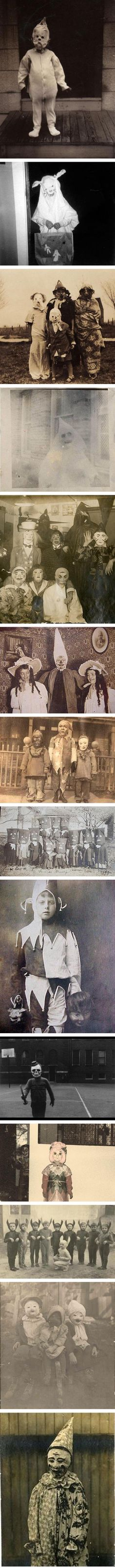 Vintage Halloween Pics.... I'd never open the door for any of these kids! I'd be hiding in my closet!