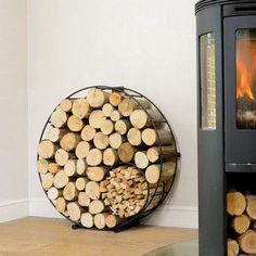 Exclusive Floor Standing Harrod Circular Wire Log Holder is designed and manufactured by us in the UK, using quality materials and comes with a 10 year structural guarantee.