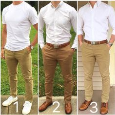 I haven t posted any white and tan outfits in awhile. Which one is a098186d9e2