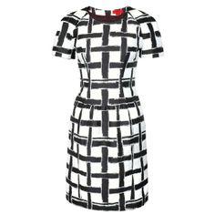 HUGO HUGO BOSS Robe fourreau Kestine à motif tressé -  895 $ HUGO @HUGO BOSS Kestine Sheath Dress with Braided Pattern