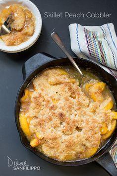 Skillet Peach Cobbler ~ grain free, gluten free, dairy free, egg free, nut free, seed free, AIP