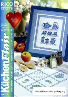 Gallery.ru / Фото #54 - Rico 70, 71, 72, 73 - Fleur55555 Cross Stitch Magazines, Cross Stitch Books, Cross Stitch Kitchen, Rico Design, Teapots And Cups, Cross Stitching, Blackwork, Needlework, Projects To Try