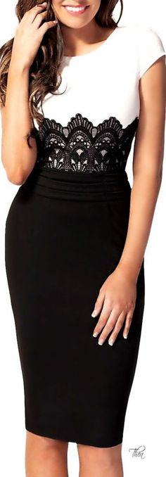 Bodycon Pencil Dress Imagine wearing this to the rehearsal dinner. Skirt Outfits, Dress Skirt, Lace Dress, Bodycon Dress, Maxi Skirts, Lace Maxi, Trendy Dresses, Casual Dresses, Casual Clothes