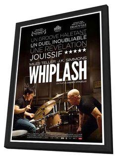 Whiplash (French) 27x40 Framed Movie Poster (2014)