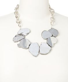 Look what I found on #zulily! Silver Slab Bib Necklace by of earth #zulilyfinds