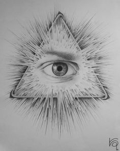 Eye of Providence Graphite Drawing by Kamizzi