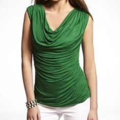 Express Cowl Top Kelly Green top. Size XS. Express Tops Tank Tops
